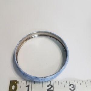 Jewelry - Silver Tone Bracelet Light Blue Marbled Look